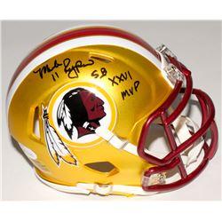 "Mark Rypien Signed Redskins Mini Blaze Speed Helmet Inscribed ""SB XXVI MVP"" (JSA COA)"