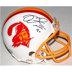 Mike Alstott Signed Buccaneers Throwback Mini Helmet (JSA COA)