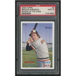 2006 Topps Rookie of the Week #9 Brooks Robinson 57 (PSA 9)