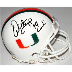 "Warren Sapp Signed Miami Hurricanes Mini Helmet Inscribed ""94 Lombardi"" (JSA COA)"