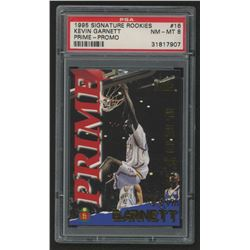 1995 Signature Rookies Prime #16 Kevin Garnett (PSA 8)