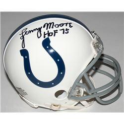 "Lenny Moore Signed Colts Mini Helmet Inscribed ""HOF 75"" (JSA COA)"
