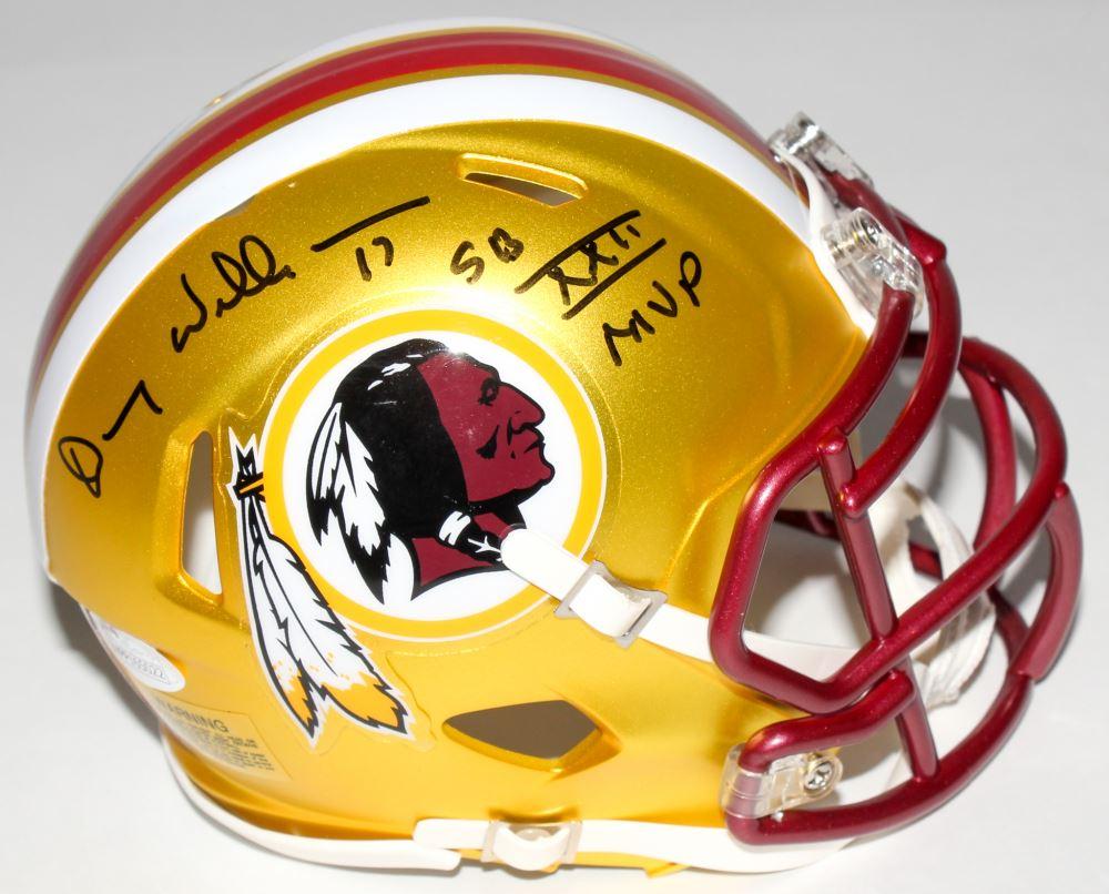 05de8a24 Image 1 : Doug Williams Signed Redskins Mini Blaze Speed Helmet Inscribed