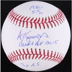"Benito Santiago Signed OML Baseball Inscribed ""1980 S.S."", ""NL 87 ROY""  ""5x All-Star"" (MAB Hologram)"