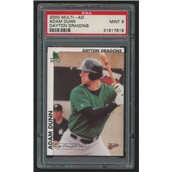 2000 Midwest League Top Prospects Multi-Ad #7 Adam Dunn (PSA 9)