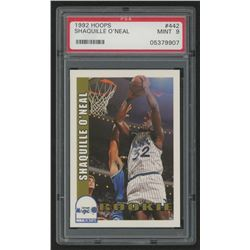 1992-93 Hoops #442 Shaquille O'Neal RC (PSA 9)