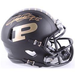Rod Woodson Signed Purdue Boilermakers Custom Matte Black Speed Mini Helmet (Schwartz COA)