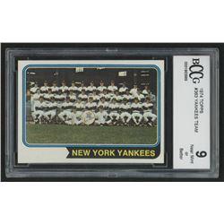 1974 Topps #363 New York Yankees TC (BCCG 9)