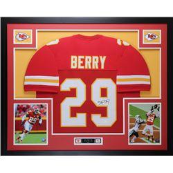 Eric Berry Signed Chiefs 35x43 Custom Framed Jersey (JSA COA)