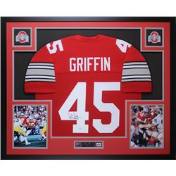 """Archie Griffin Signed Ohio State Buckeyes  35x43 Custom Framed Jersey Inscribed """"H.T. 1974/75"""" (JSA"""