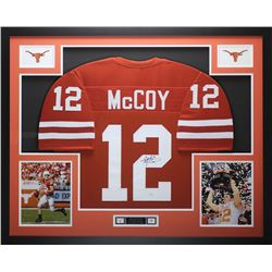 "Colt McCoy Signed Texas Longhorns 35"" x 43"" Custom Framed Jersey (JSA COA)"