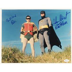 Adam West  Burt Ward Signed  Batman  11x14 Photo Inscribed  Robin    Batman  (JSA COA)