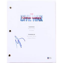 "Sebastian Stan Signed ""Captain America: Civil War"" Full Movie Script (Beckett COA)"