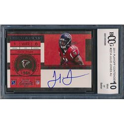 2011 Playoff Contenders #221A Julio Jones AU RC (BCCG 10)