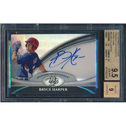 2011 Bowman Platinum Prospect Autograph Refractors #BH Bryce Harper (BGS 9.5)