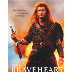 "Mel Gibson Signed ""Braveheart"" 11x14 Photo (PSA COA)"
