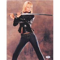 """Uma Thurman Signed """"Kill Bill"""" 11x14 Photo (PSA COA)"""