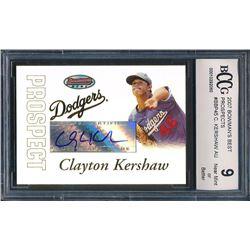 2007 Bowman's Best Prospects #BBP45 Clayton Kershaw AU (BCCG 9)