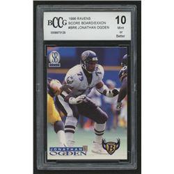 1996 Ravens Score Board / Exxon #BR6 Jonathan Ogden (BCCG 10)