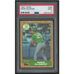 1987 Topps #366 Mark McGwire (PSA 9)