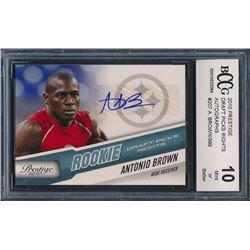 2010 Prestige Draft Picks Rights Autographs #207 Antonio Brown RC / 999 (BCCG 10)