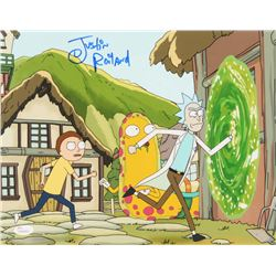 Justin Roiland Signed  Rick and Morty  11x14 Photo (JSA COA)