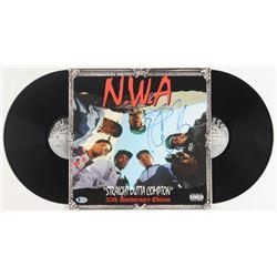 """Ice Cube Signed """"Straight Outta Compton"""" Vinyl Record Album Cover (Beckett COA)"""