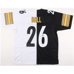 Le'Veon Bell Signed Steelers Home / Away Split Jersey (Beckett COA)