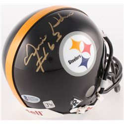 Ernie Holmes Signed Steelers Mini Helmet (Beckett COA)