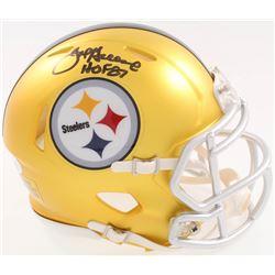 "Joe Greene Signed Steelers Blaze Speed Alternate Mini-Helmet Inscribed ""HOF 87"" (JSA COA)"