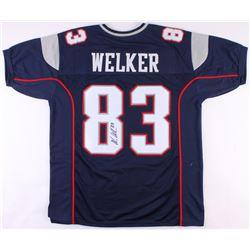 Wes Welker Signed Patriots Jersey (JSA COA)