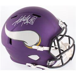Adrian Peterson Signed Vikings Full-Size Speed Helmet (JSA COA  Fanatics Hologram)