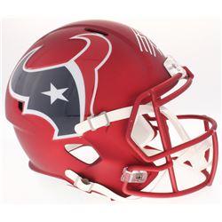 J.J. Watt Signed Texans Blaze Full-Size Speed Helmet (JSA COA  Watt Hologram)