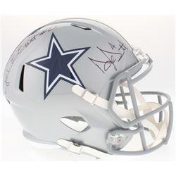 Dak Prescott  Ezekiel Elliot Signed Cowboys Full-Size Speed Helmet (JSA COA  Prescott Hologram)