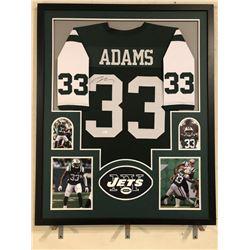 Jamal Adams Signed Jets 34x42 Custom Framed Jersey (JSA COA)