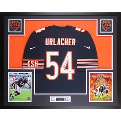 Brian Urlacher Signed Bears 35x43 Custom Framed Jersey Display (PSA COA)