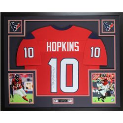 DeAndre Hopkins Signed Texans 35x43 Custom Framed Jersey Display (JSA COA)