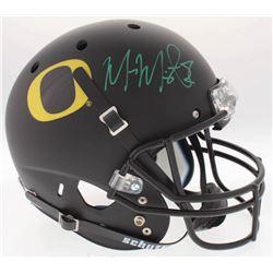 Marcus Mariota Signed Oregon Ducks Full-Size Custom Matte Black Helmet (Mariota Hologram  Radtke COA