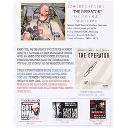 "Robert O'Neill Signed LE ""The Operator"" 11x14 Photo (PSA COA)"