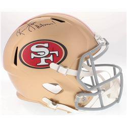 "Ronnie Lott Signed 49ers Full-Size Speed Helmet Inscribed ""Hitman!"" (Radtke COA)"