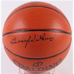 Lenny Wilkins Signed Game Ball Series Basketball (Schwartz COA)