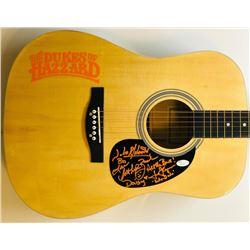 John Schneider, Tom Wopat  Catherine Bach Signed Full-Size Huntington Acoustic Guitar (JSA COA)