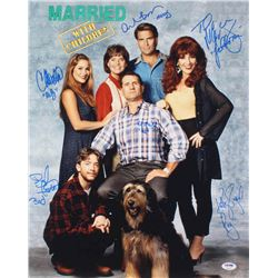 Married With Children 16x20 Photo Cast-Signed by (6) With Ed O'Neill, Katey Sagal, David Faustino, C