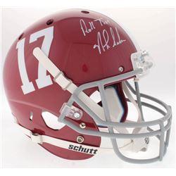 """Nick Saban Signed Alabama Crimson Tide Full-Size Helmet Inscribed """"Roll Tide"""" (Radtke COA)"""