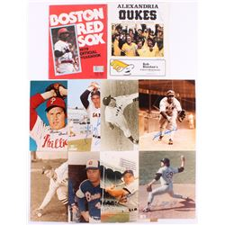 Lot of (10) Hall of Famers Signed Items with (8) 8x10 Photos  (2) Magazines with Willie Stargell, Ga