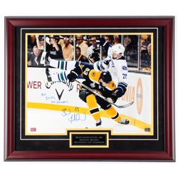 "Brad Marchand Signed Bruins 27x23 Custom Framed Photo Display Inscribed ""2011 Stanley Cup Champions"""