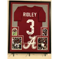 "Calvin Ridley Signed Alabama Crimson Tide 34x42 Custom Framed Jersey Inscribed ""RTR"" (JSA COA)"