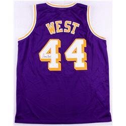 Jerry West Signed Lakers Jersey (JSA COA)