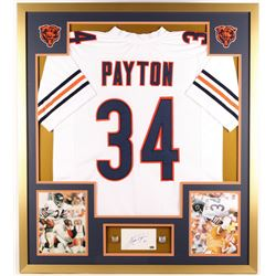 Water Payton Signed Bears 34x38 Custom Framed Cut Display (PSA)