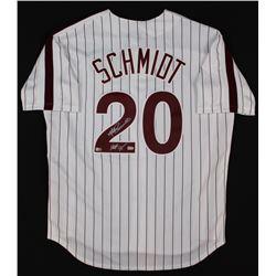 """Mike Schmidt Signed Phillies Jersey Inscribed """"HOF 95"""" (Fanatics Hologram  MLB Hologram)"""